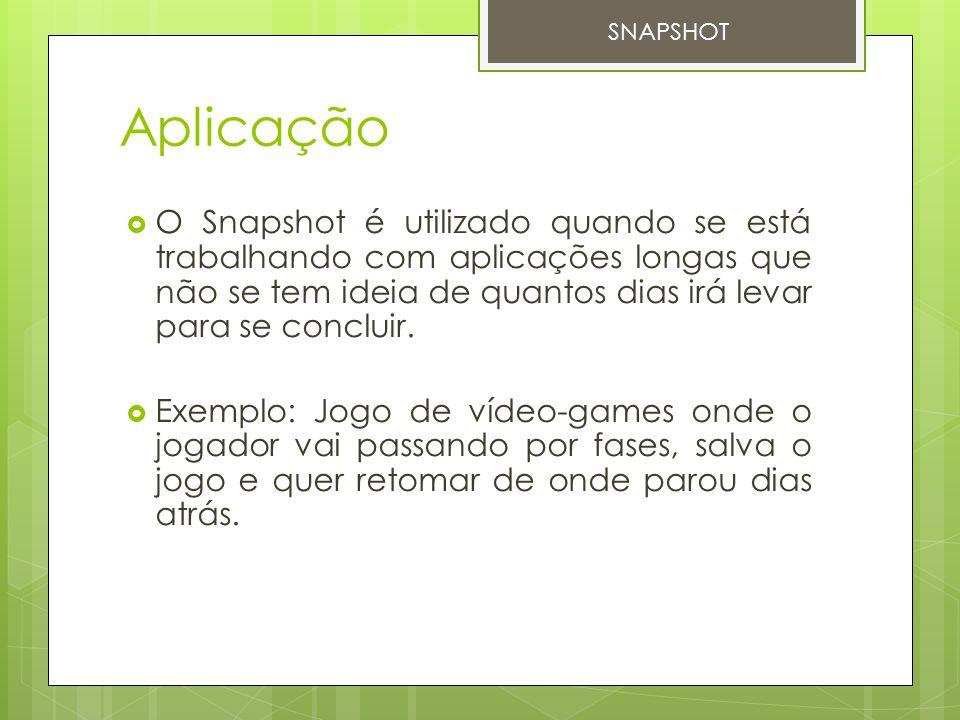 SNAPSHOT Aplicação.