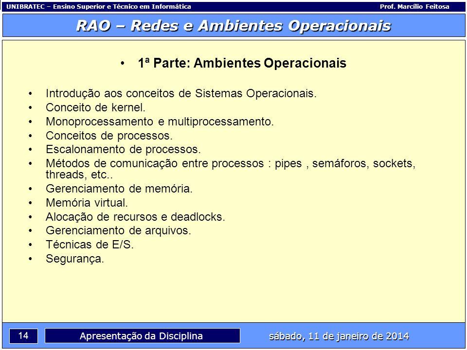 1ª Parte: Ambientes Operacionais