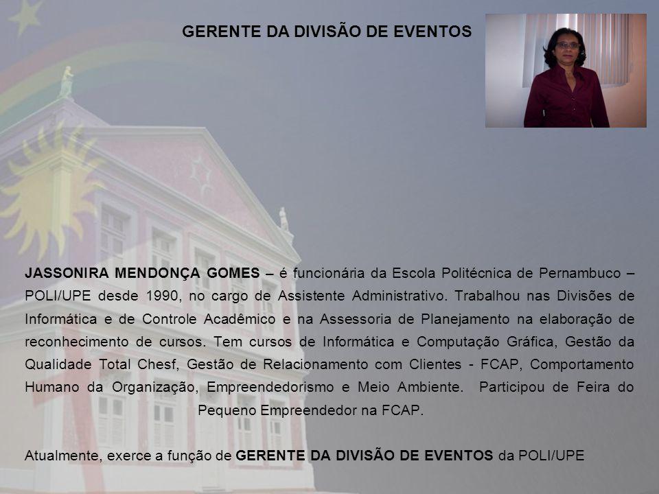 GERENTE DA DIVISÃO DE EVENTOS