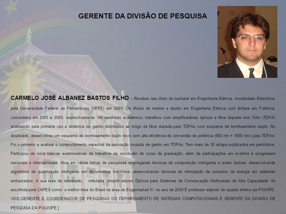 GERENTE DA DIVISÃO DE PESQUISA