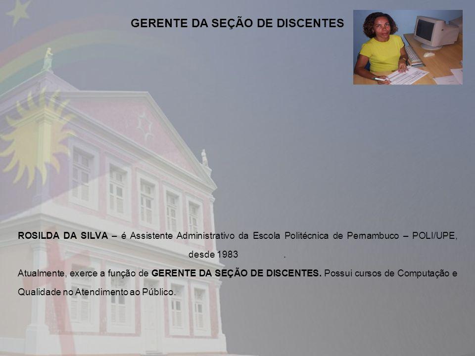 GERENTE DA SEÇÃO DE DISCENTES