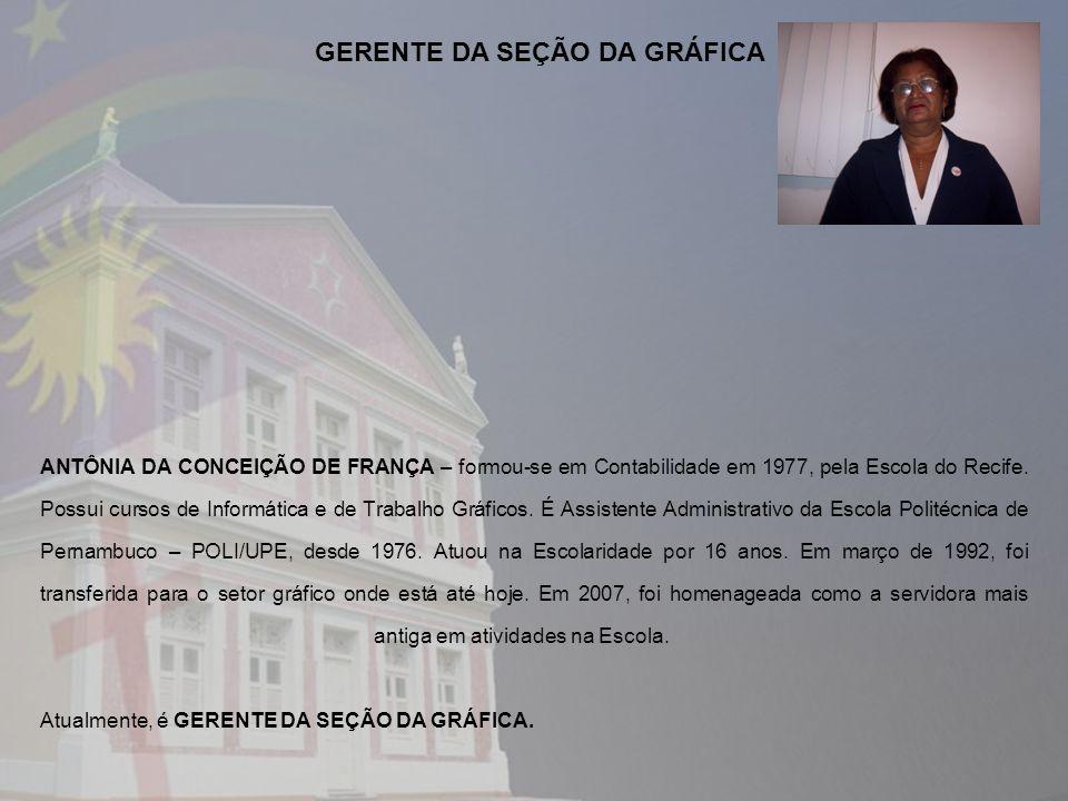 GERENTE DA SEÇÃO DA GRÁFICA