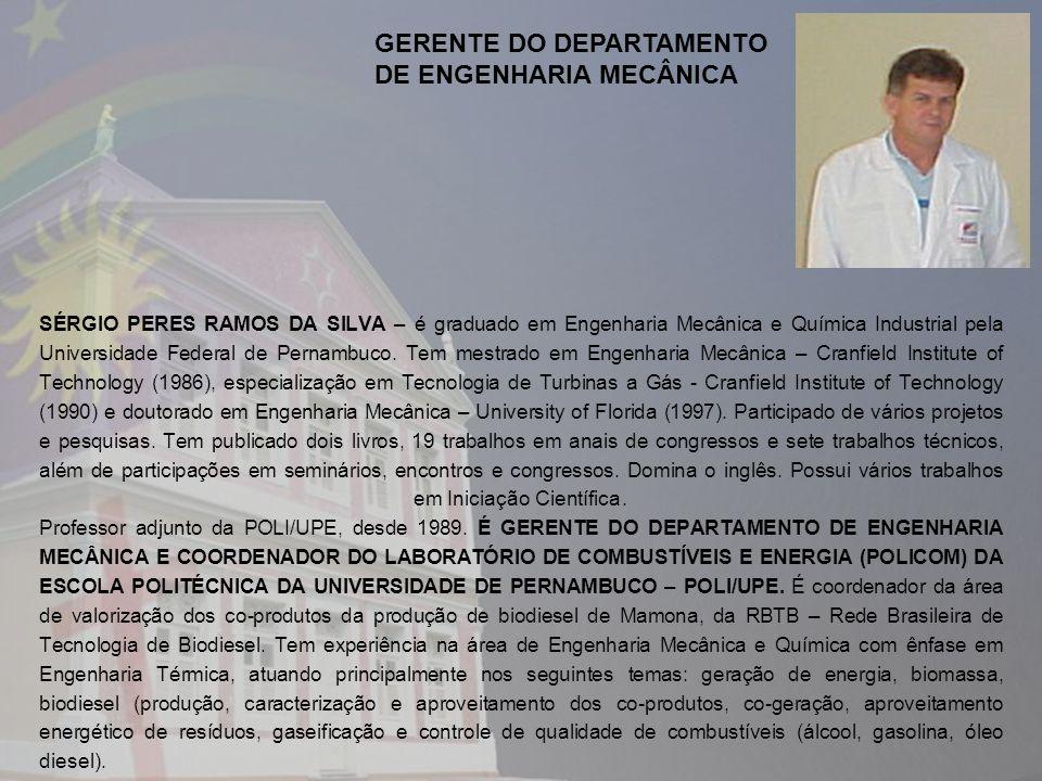 GERENTE DO DEPARTAMENTO DE ENGENHARIA MECÂNICA