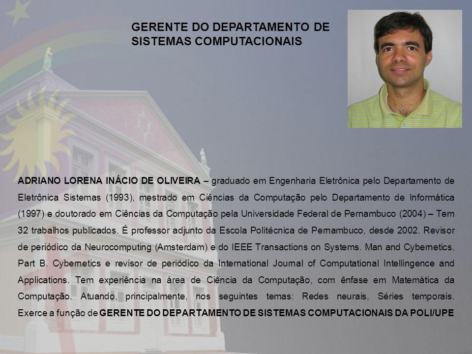 GERENTE DO DEPARTAMENTO DE SISTEMAS COMPUTACIONAIS