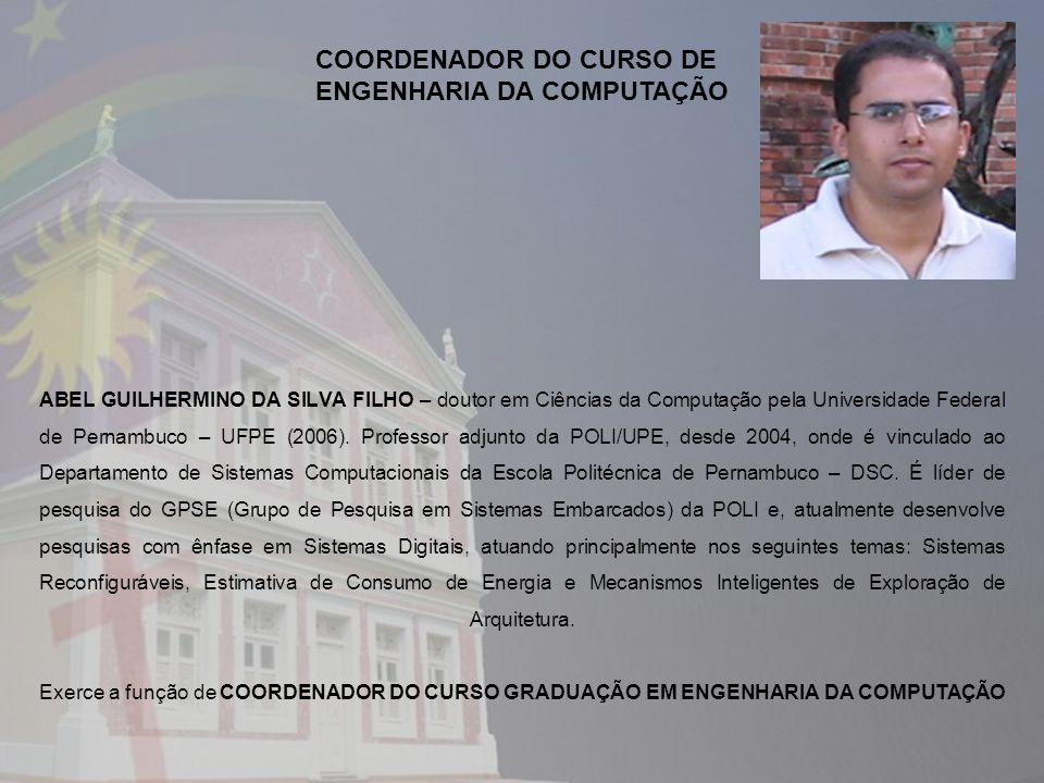 COORDENADOR DO CURSO DE ENGENHARIA DA COMPUTAÇÃO