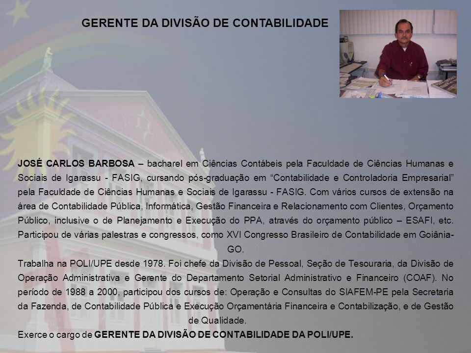 GERENTE DA DIVISÃO DE CONTABILIDADE
