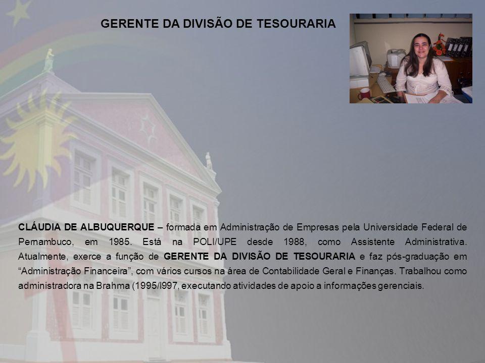 GERENTE DA DIVISÃO DE TESOURARIA