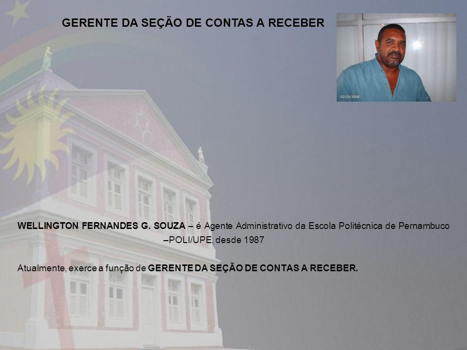 GERENTE DA SEÇÃO DE CONTAS A RECEBER