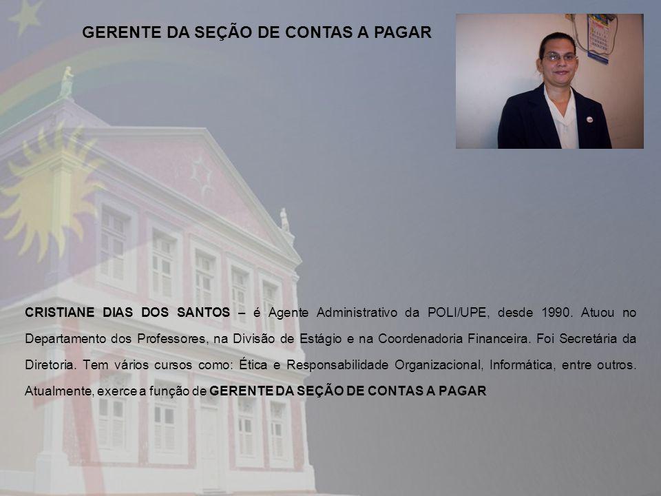 GERENTE DA SEÇÃO DE CONTAS A PAGAR