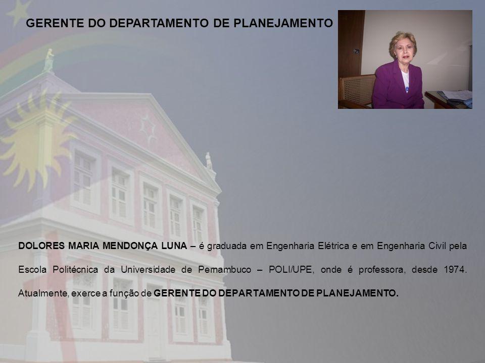 GERENTE DO DEPARTAMENTO DE PLANEJAMENTO