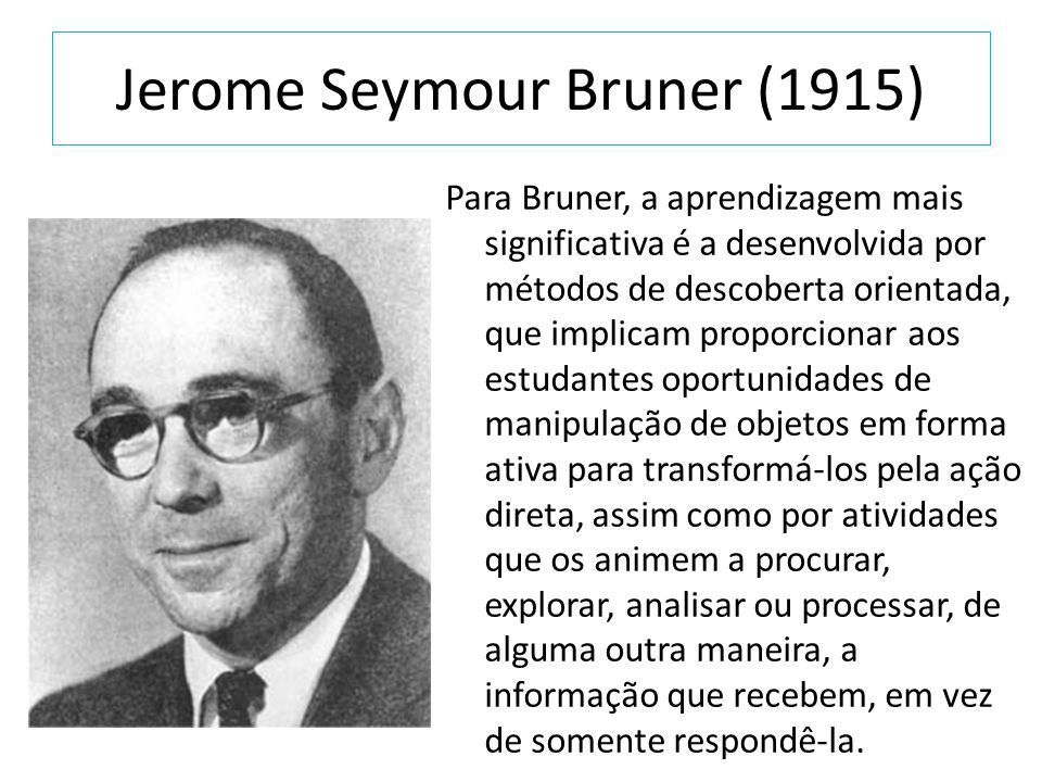 Jerome Seymour Bruner (1915)