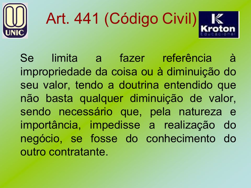 Art. 441 (Código Civil)