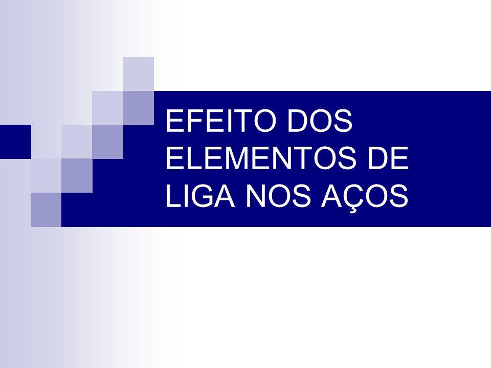 EFEITO DOS ELEMENTOS DE LIGA NOS AÇOS