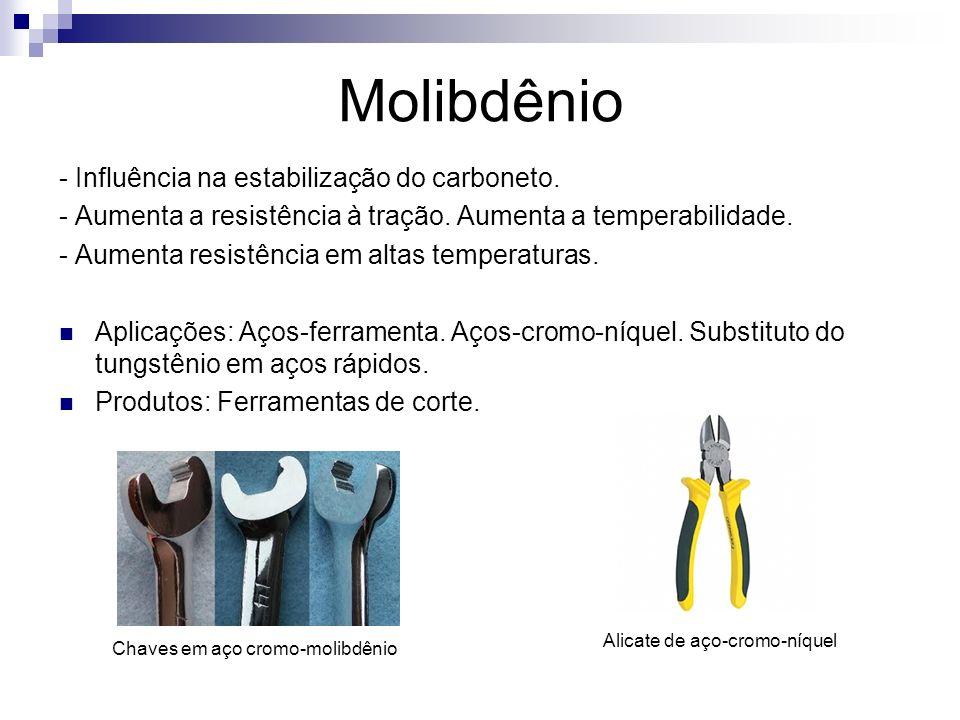 Molibdênio - Influência na estabilização do carboneto.
