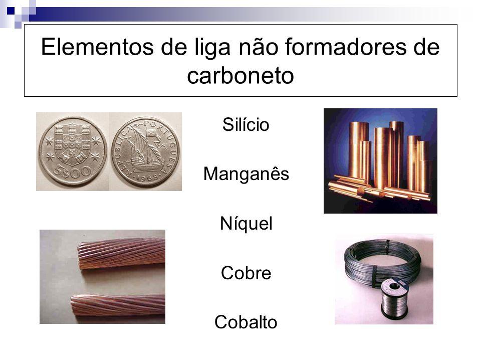 Elementos de liga não formadores de carboneto