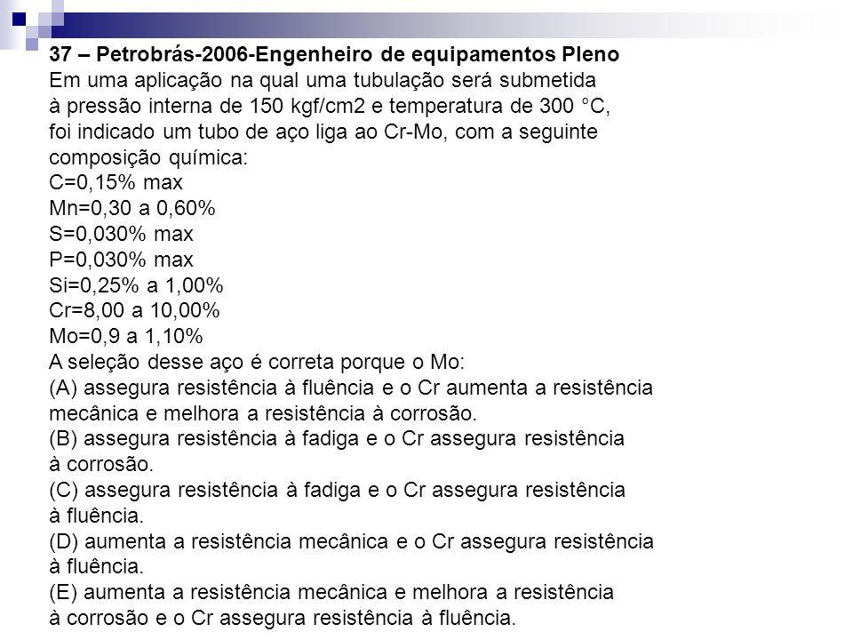 37 – Petrobrás-2006-Engenheiro de equipamentos Pleno