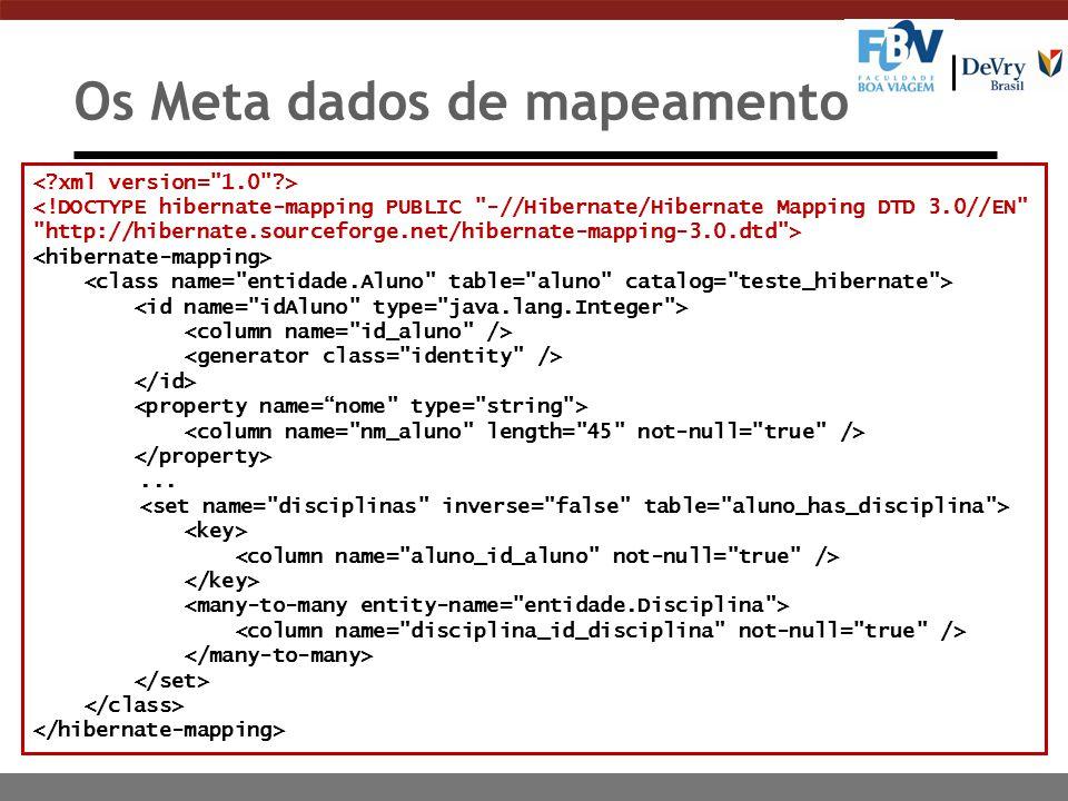 Os Meta dados de mapeamento