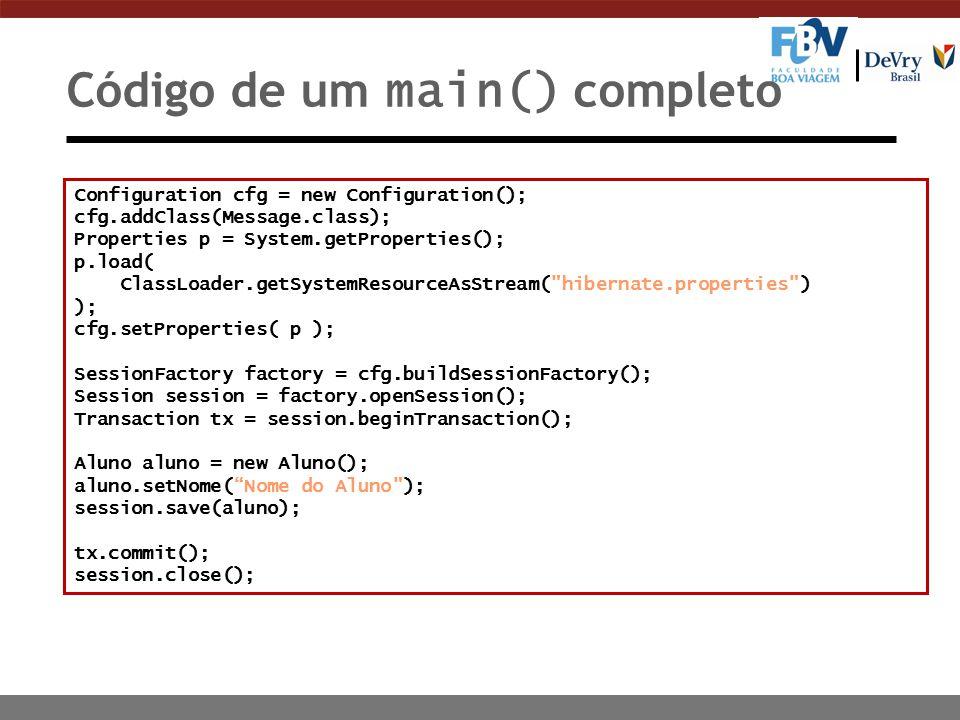 Código de um main() completo