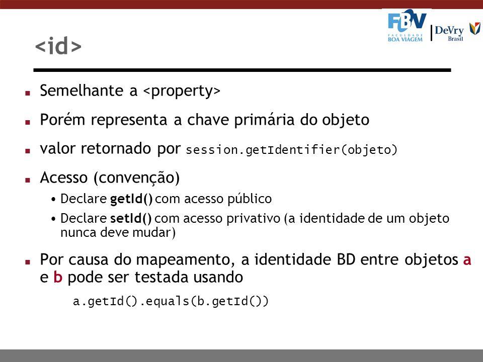 <id> Semelhante a <property>