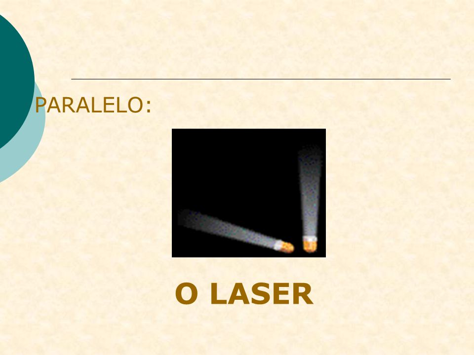 PARALELO: O LASER