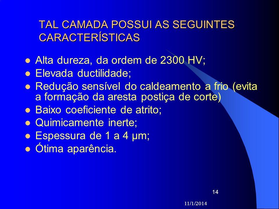 TAL CAMADA POSSUI AS SEGUINTES CARACTERÍSTICAS