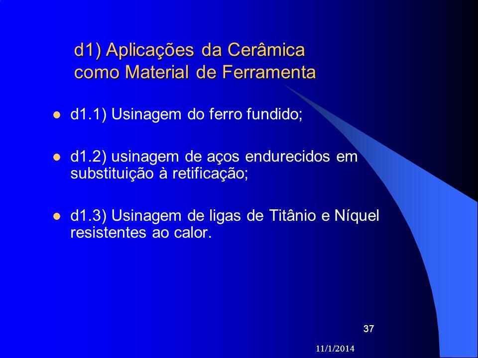 d1) Aplicações da Cerâmica como Material de Ferramenta