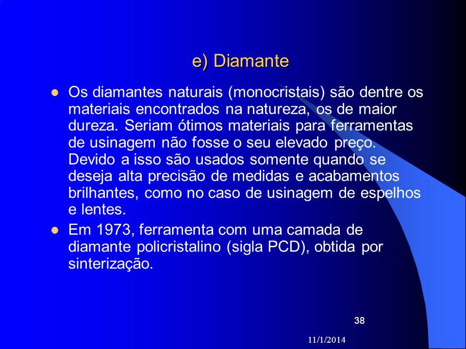 e) Diamante