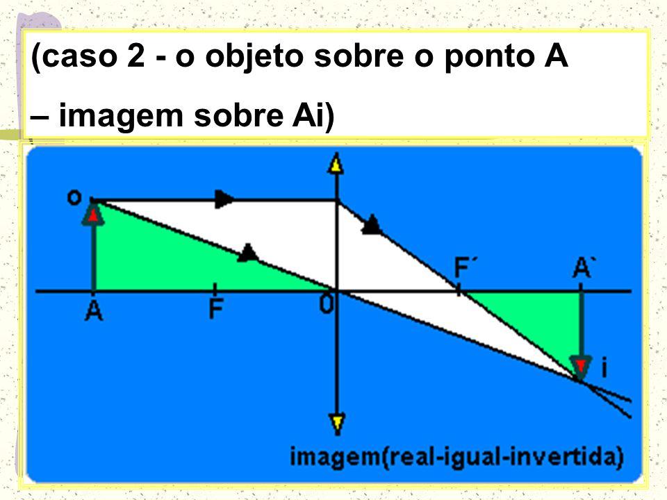 (caso 2 - o objeto sobre o ponto A