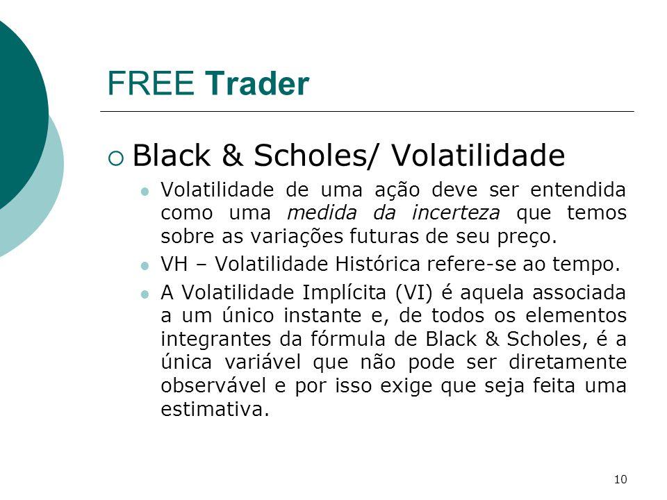 FREE Trader Black & Scholes/ Volatilidade