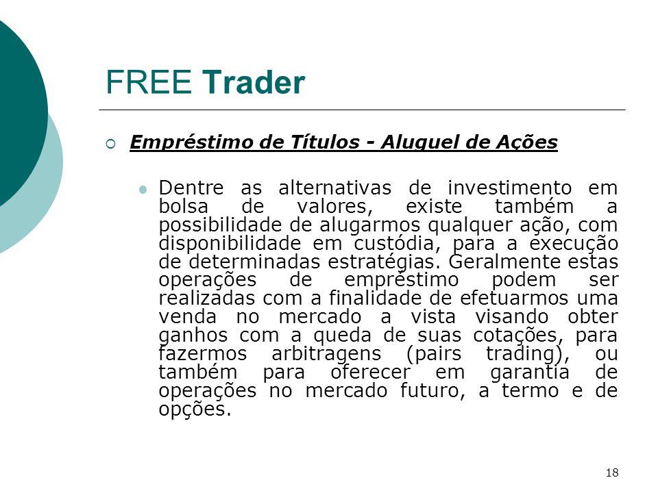 FREE Trader Empréstimo de Títulos - Aluguel de Ações.