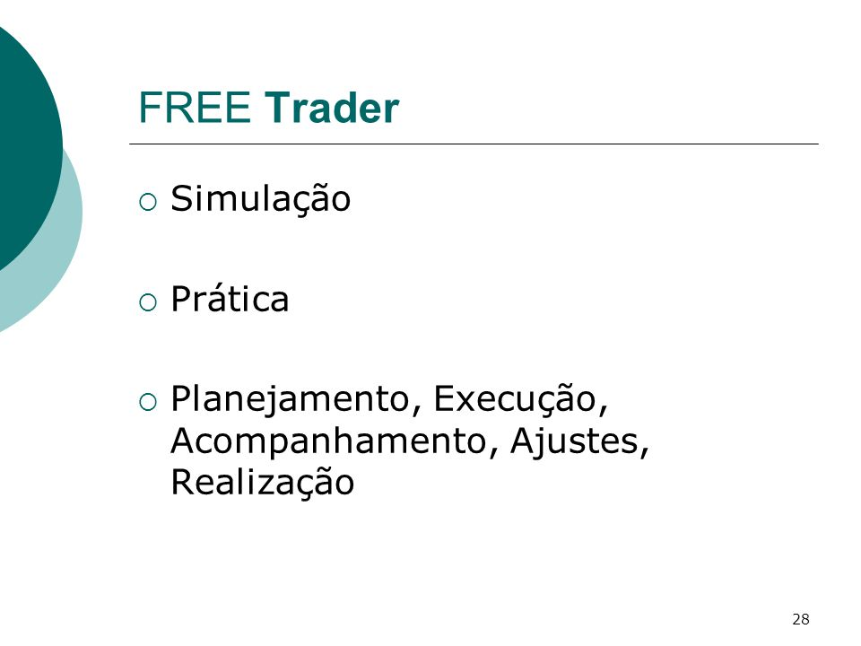 FREE Trader Simulação Prática