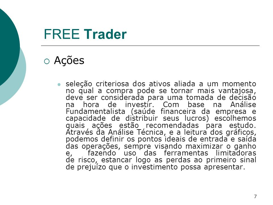 FREE Trader Ações.