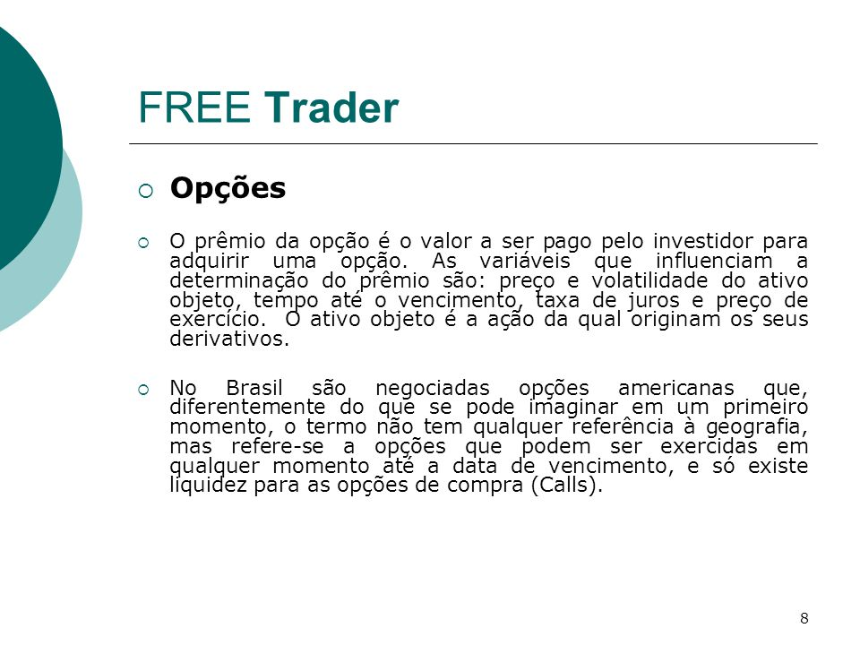 FREE Trader Opções.