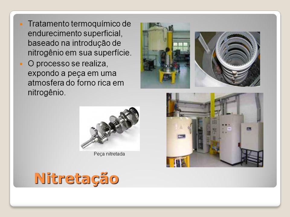 Tratamento termoquímico de endurecimento superficial, baseado na introdução de nitrogênio em sua superfície.