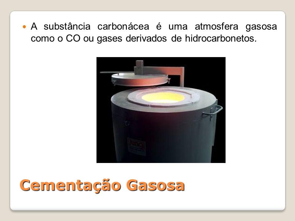 A substância carbonácea é uma atmosfera gasosa como o CO ou gases derivados de hidrocarbonetos.