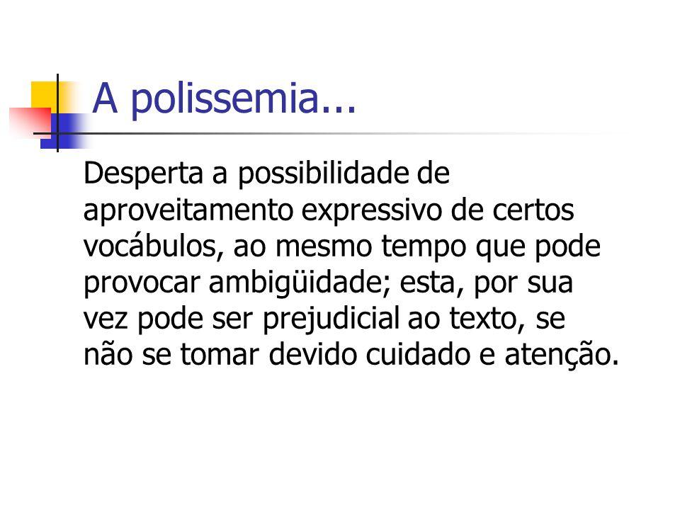A polissemia...