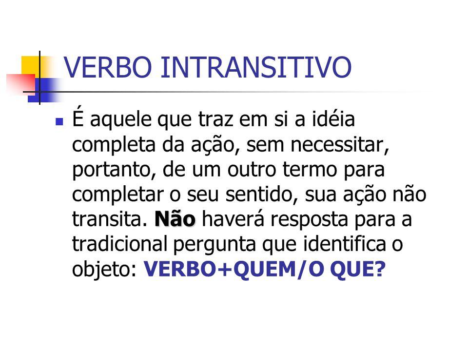 VERBO INTRANSITIVO