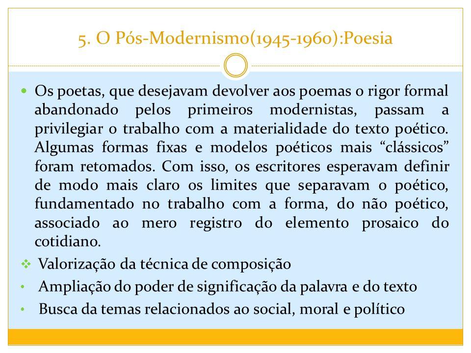 5. O Pós-Modernismo(1945-1960):Poesia