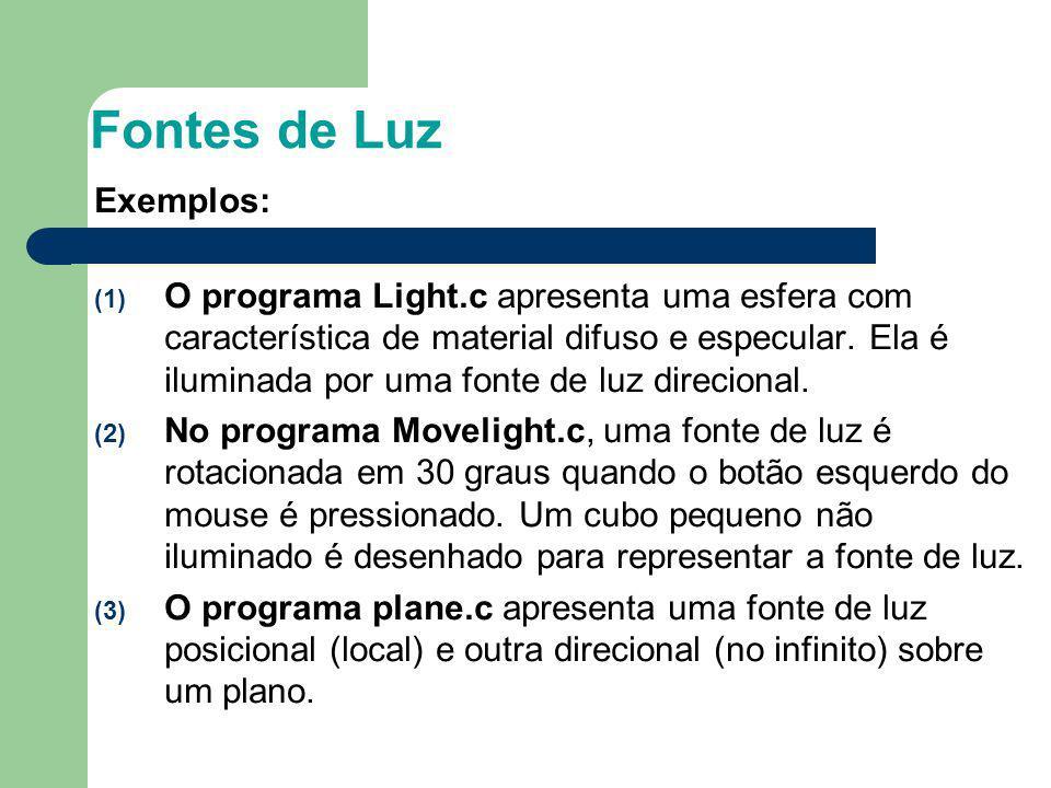 Fontes de Luz Exemplos: