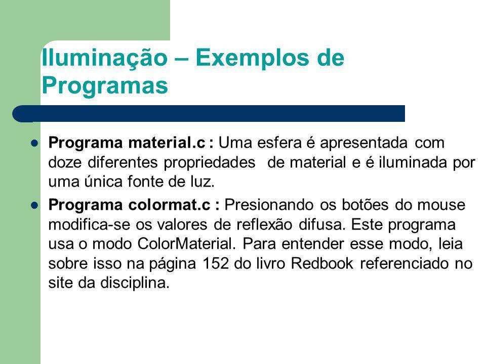 Iluminação – Exemplos de Programas