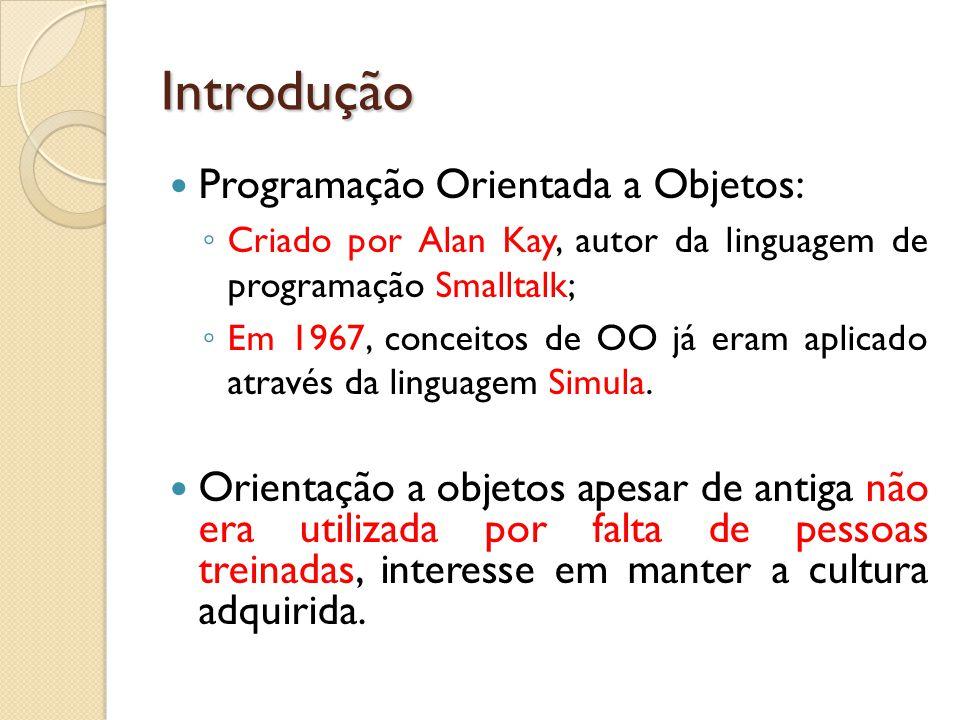 Introdução Programação Orientada a Objetos: