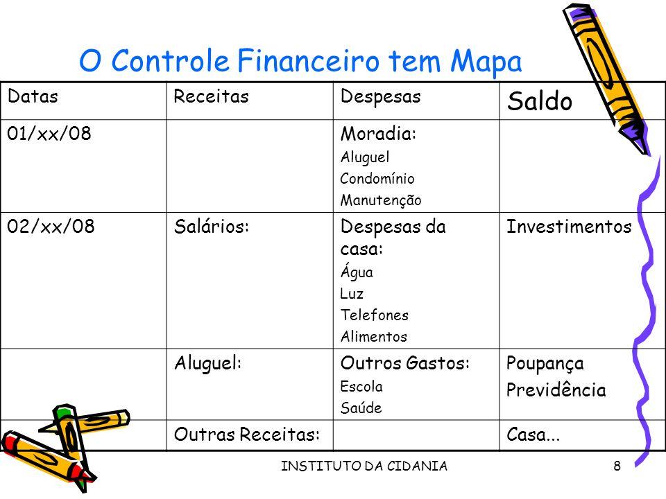 O Controle Financeiro tem Mapa