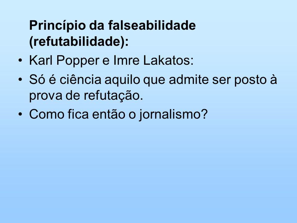 Princípio da falseabilidade (refutabilidade):