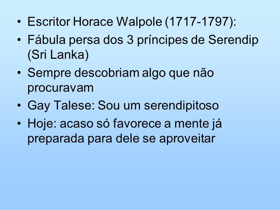 Escritor Horace Walpole (1717-1797):