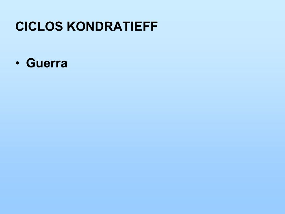 CICLOS KONDRATIEFF Guerra