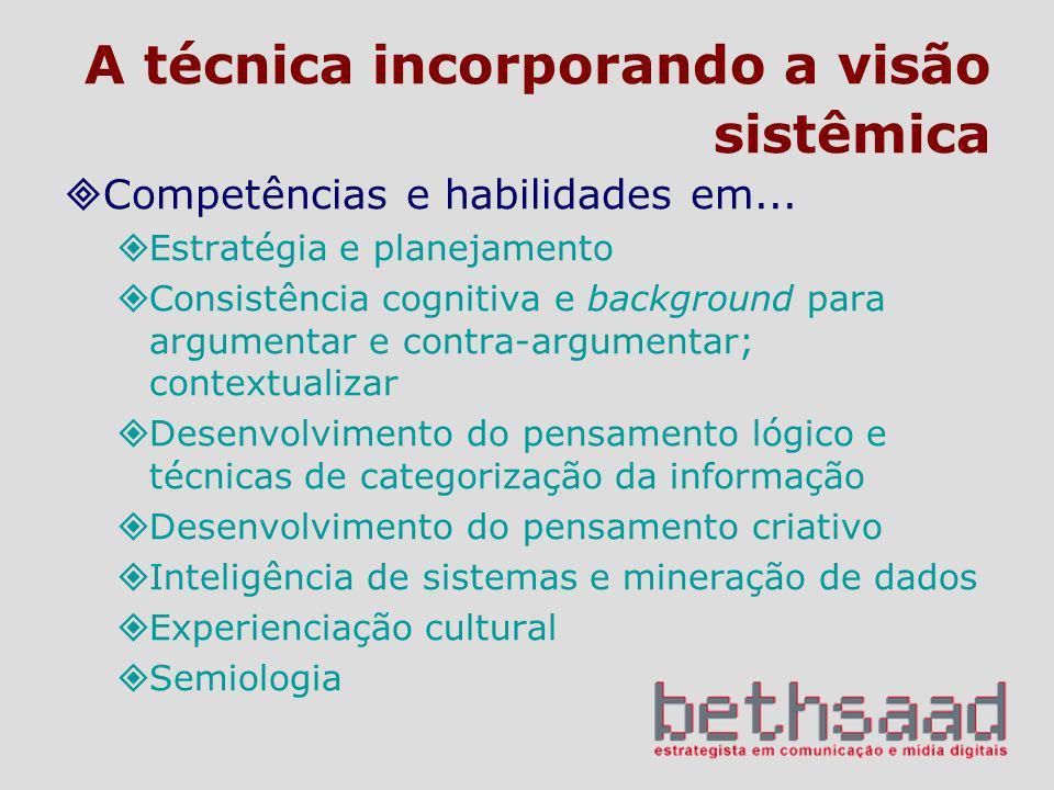 A técnica incorporando a visão sistêmica