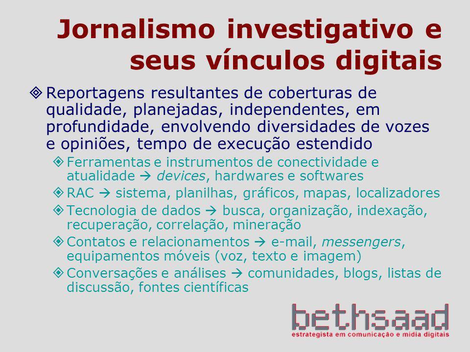 Jornalismo investigativo e seus vínculos digitais