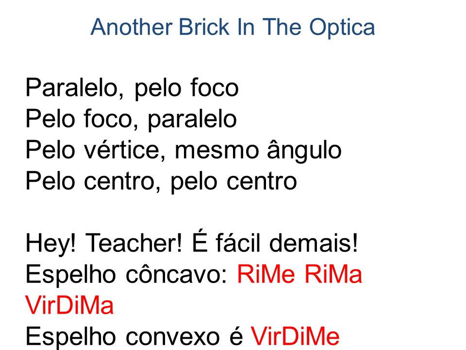 Another Brick In The Optica
