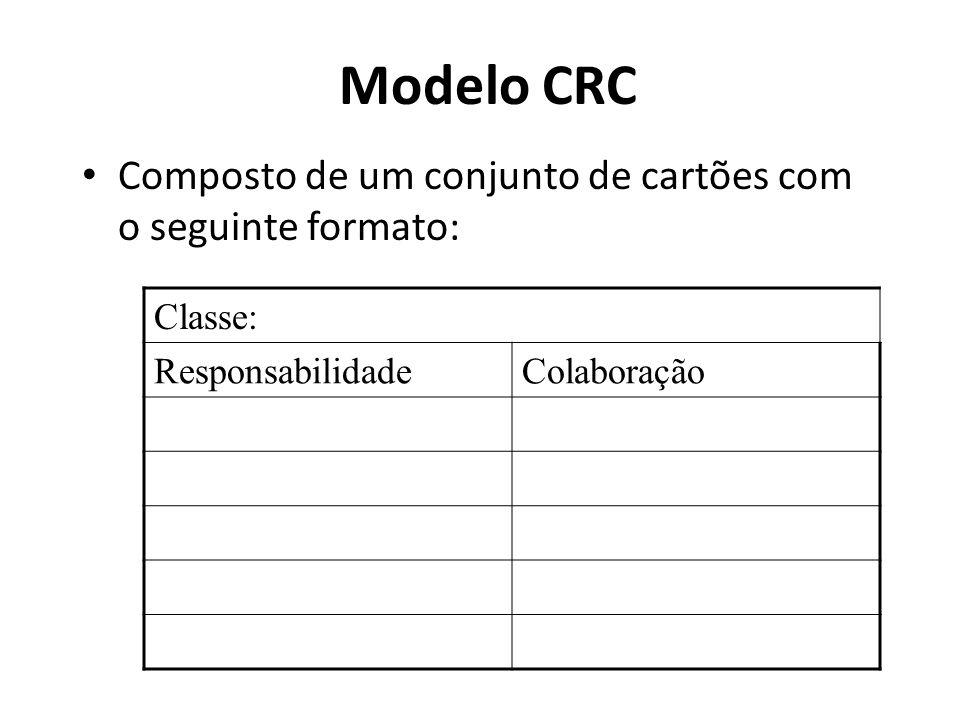 Modelo CRC Composto de um conjunto de cartões com o seguinte formato: