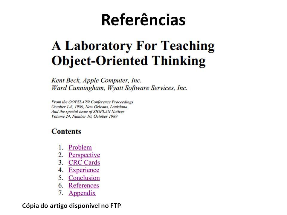 Referências Cópia do artigo disponível no FTP